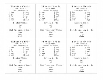 2nd Grade Phonics Word Lists--Differentiated--30 weeks of study!