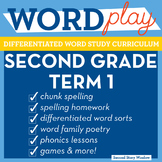 2nd Grade Phonics and Chunk Spelling Curriculum Term 1
