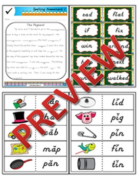 2nd Grade Phonics and Spelling D'Nealian Week 1 (short ă, short ĭ)