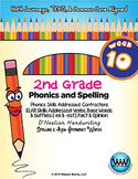 2nd Grade Phonics and Spelling D'Nealian Week 10 (Contractions) {TEKS-aligned}
