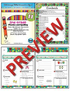 2nd Grade Phonics and Spelling D'Nealian Week 11 (Base Words & Endings -s & -es)