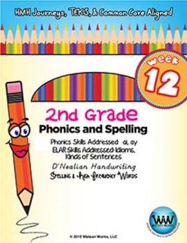 2nd Grade Phonics and Spelling D'Nealian Week 12 (Vowel Di