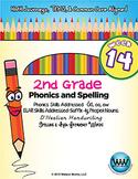 2nd Grade Phonics and Spelling D'Nealian Week 14 (long ō, oa, ōw)