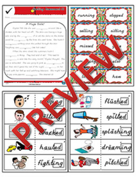 2nd Grade Phonics and Spelling D'Nealian Week 16 (–ed & -ing) {TEKS-aligned}