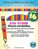 2nd Grade Phonics and Spelling D'Nealian Week 16 (–ed & -ing)