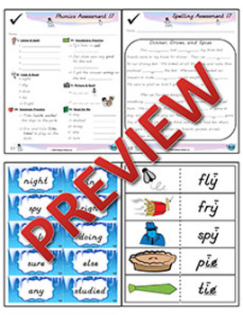 2nd Grade Phonics and Spelling D'Nealian Week 17 (Long ī, igh, ie, y)