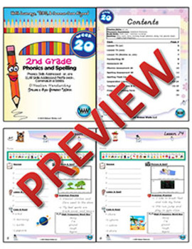 2nd Grade Phonics and Spelling D'Nealian Week 20 (R-Controlled Vowels – or, ore)