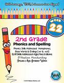 2nd Grade Phonics and Spelling D'Nealian Week 22 (Homophones, -er & -est)