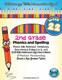 2nd Grade Phonics and Spelling D'Nealian Week 22 (Homophon