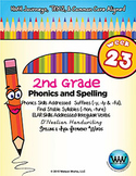 2nd Grade Phonics and Spelling D'Nealian Week 23 (-tion, -ture, -y, -ly, -ful)