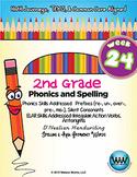 2nd Grade Phonics and Spelling D'Nealian Week 24 (Prefixes, Silent Consonants)