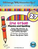 2nd Grade Phonics and Spelling D'Nealian Week 27 (short oo) {TEKS-aligned}