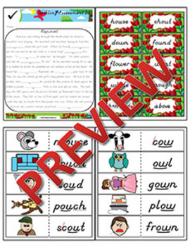 2nd Grade Phonics and Spelling D'Nealian Week 28 (Diphthongs ow, ou)