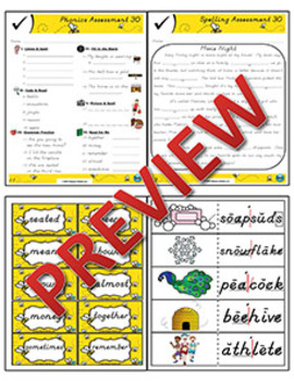 2nd Grade Phonics and Spelling D'Nealian Week 30 (Longer Words with ō & ē, -le)