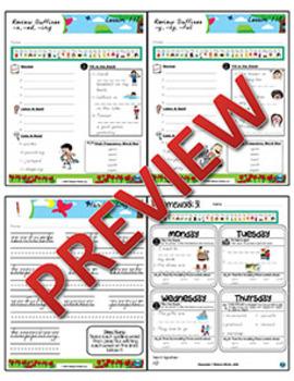 2nd Grade Phonics and Spelling D'Nealian Week 31 (Review Prefixes & Suffixes)