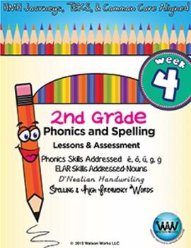 2nd Grade Phonics and Spelling D'Nealian Week 4 (long ē, ō, & ū; hard g, soft ġ)