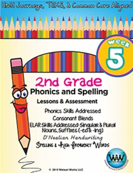 2nd Grade Phonics and Spelling D'Nealian Week 5 Consonant