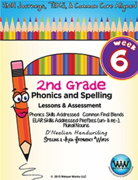2nd Grade Phonics and Spelling D'Nealian Week 6 (Common Fi