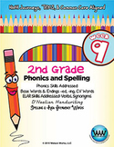 2nd Grade Phonics and Spelling D'Nealian Week 9 (-ed & -ing, CV Words)