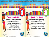 BUNDLE: 2nd Grade Phonics and Spelling D'Nealian (Weeks 1-6)