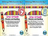 BUNDLE: 2nd Grade Phonics and Spelling D'Nealian (Weeks 7-12)