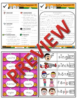 2nd Grade Phonics and Spelling Zaner-Bloser Week 10 (Contractions)