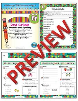2nd Grade Phonics and Spelling Zaner-Bloser Week 11 (-s & -es) {TEKS-aligned}