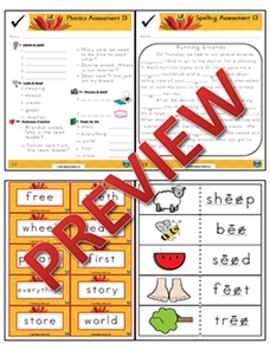 2nd Grade Phonics and Spelling Zaner-Bloser Week 13 (Vowel Digraphs ee, ea)