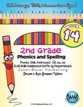 2nd Grade Phonics and Spelling Zaner-Bloser Week 14 (long ō, oa, ōw)