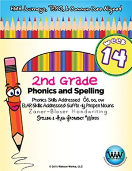 2nd Grade Phonics and Spelling Zaner-Bloser Week 14 (long ō, oa, ōw)