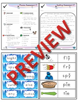 2nd Grade Phonics and Spelling Zaner-Bloser Week 17 (Long ī, igh, ie, y)