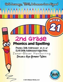2nd Grade Phonics and Spelling Zaner-Bloser Week 21 (er, ir, ur)