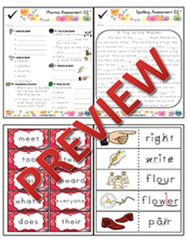 2nd Grade Phonics and Spelling Zaner-Bloser Week 22 (Homophones, -er & -est)