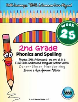 2nd Grade Phonics and Spelling Zaner-Bloser Week 25 (au, aw, al, ŏ, ä)