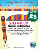 2nd Grade Phonics and Spelling Zaner-Bloser Week 25 (au, a