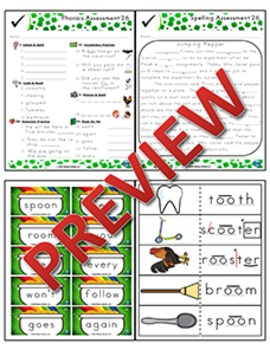2nd Grade Phonics and Spelling Zaner-Bloser Week 26 (long oo, ew, ue, ou)