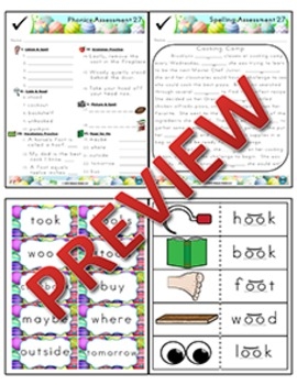 2nd Grade Phonics and Spelling Zaner-Bloser Week 27 (short oo) {TEKS-aligned}