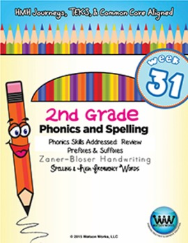 2nd Grade Phonics and Spelling Zaner-Bloser Week 31 (Review Prefixes & Suffixes)