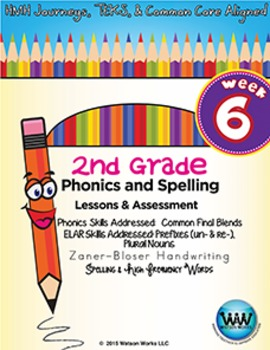 2nd Grade Phonics and Spelling Zaner-Bloser Week 6 (Common