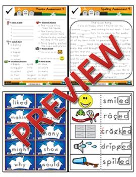 2nd Grade Phonics and Spelling Zaner-Bloser Week 9 (-ed & -ing, CV Words)