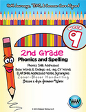 2nd Grade Phonics and Spelling Zaner-Bloser Week 9 (-ed &