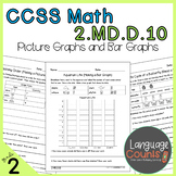 2nd Grade, Picture Graphs and Bar Graphs- No Prep Practice Worksheets