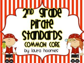 2nd Grade Pirate Standards COMMON CORE custom