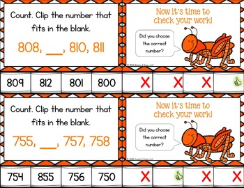 2nd Grade Place Value Activity: Counting to 1000 Task Cards {2.NBT.2}