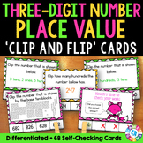 2nd Grade Place Value Activity: Three Digit Numbers Task Cards {2.NBT.1}
