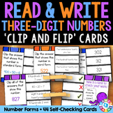 2nd Grade Place Value Activity: Three Digit Numbers Task Cards {2.NBT.3}