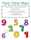 2nd Grade Place Value Bingo