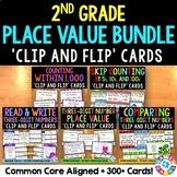 2nd Grade Place Value Clip Cards Bundle {2.NBT.1, 2.NBT.2, 2.NBT.3, 2.NBT.4...}