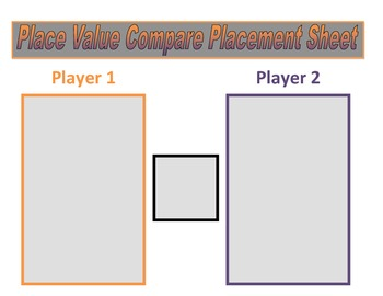 2nd Grade Place Value Comparing Game for Common Core