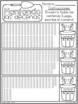 2nd Grade Place Value in Spanish / El valor posicional